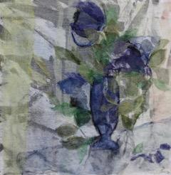Blå blom Applikationsteknik